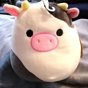 NWT dog toy Connor cow squishmallow plush